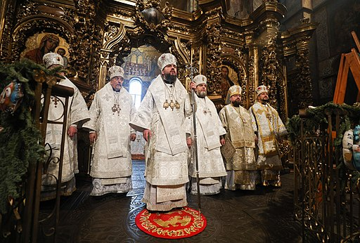The Christmas liturgy in Saint Sophia, Kiev