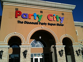 Party City - Facade of a Party City store in The Woodlands, Texas