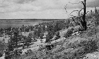 Battle of Kelja - Patoniemi cape from the Southeast