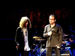 Patti Smith and Bono at the Madison Square Garden.jpg