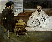 Paul Alexis Reading a Manuscript to Zola, by Paul Cezanne, 1869-1870, oil on canvas - Museu de Arte de São Paulo - DSC07151.jpg