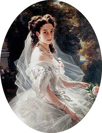 Pauline von Metternich - Portrait by Franz Xaver Winterhalter, 1860