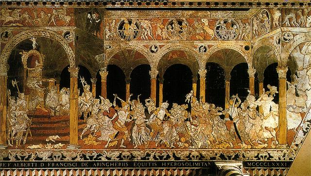 """Strage degli Innocenti"" by Matteo di Giovanni. Marble inlay in Siena's Cathedral."