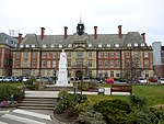 Statue of Queen Victoria on Front Lawn of Royal Victoria Infirmary