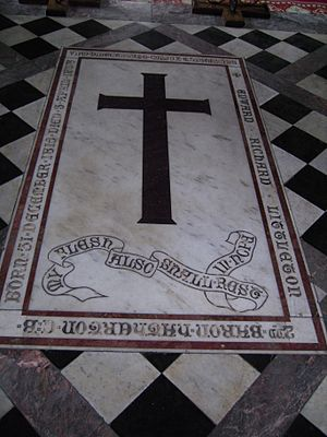 Edward Littleton, 2nd Baron Hatherton - The 2nd Baron Hatherton was buried before the altar of St. Michael and All Angels church, Penkridge, Staffordshire.