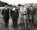 Per-Olof Arvidsson, Oscar Swahn, Åke Lundeberg, Alfred Swahn 1912.jpg