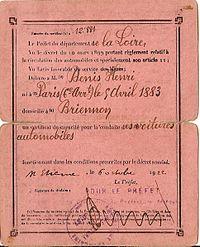 Permis De Conduire En France Wikipedia