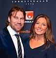 Peter Forsberg and Nicole Nordin in January 2014.jpg