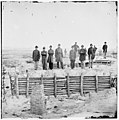 Petersburg, Virginia. On the parapet of Fort Mahone. (Standing in the center is Lt. J.B. Krepp, 2nd Pa. H. Artillery) LOC cwpb.02622.jpg