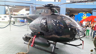 Philippine Air Force - The PAF MD-520MG displayed at the Mall of Asia.