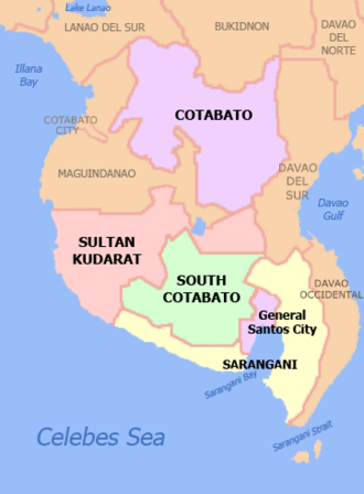 Soccsksargen - Map of Region XII