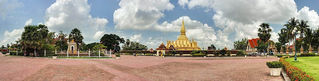 Pha That Luang and its place in Vientiane Pha That Luang Vientiane Laos Wikimedia Commons.jpg