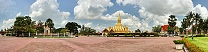 Pha That Luang - Pha That Luang and its situation in Vientiane