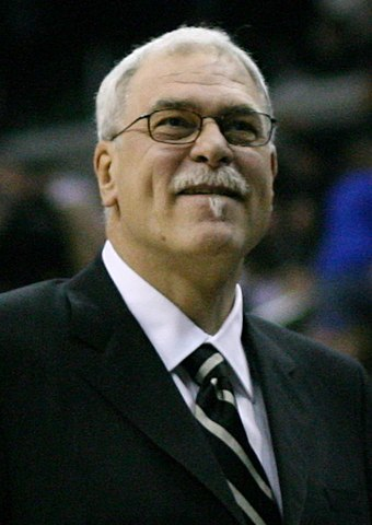 Former head coach Phil Jackson led the team to five championships. Phil Jackson 3 cropped.jpg