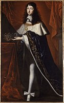 Philippe de France wearing coronation clothes for his brother, Ecole française.jpg