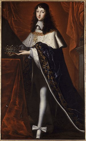 Philippe I, Duke of Orléans - Philippe dressed for his brother's coronation, c.1654 by an unknown artist