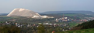 Philippsthal (Werra) - Potash works with tailings heap in Philippsthal (Werra)