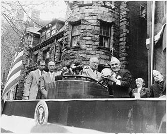 AMVETS - President Harry Truman at AMVETS headquarters dedication