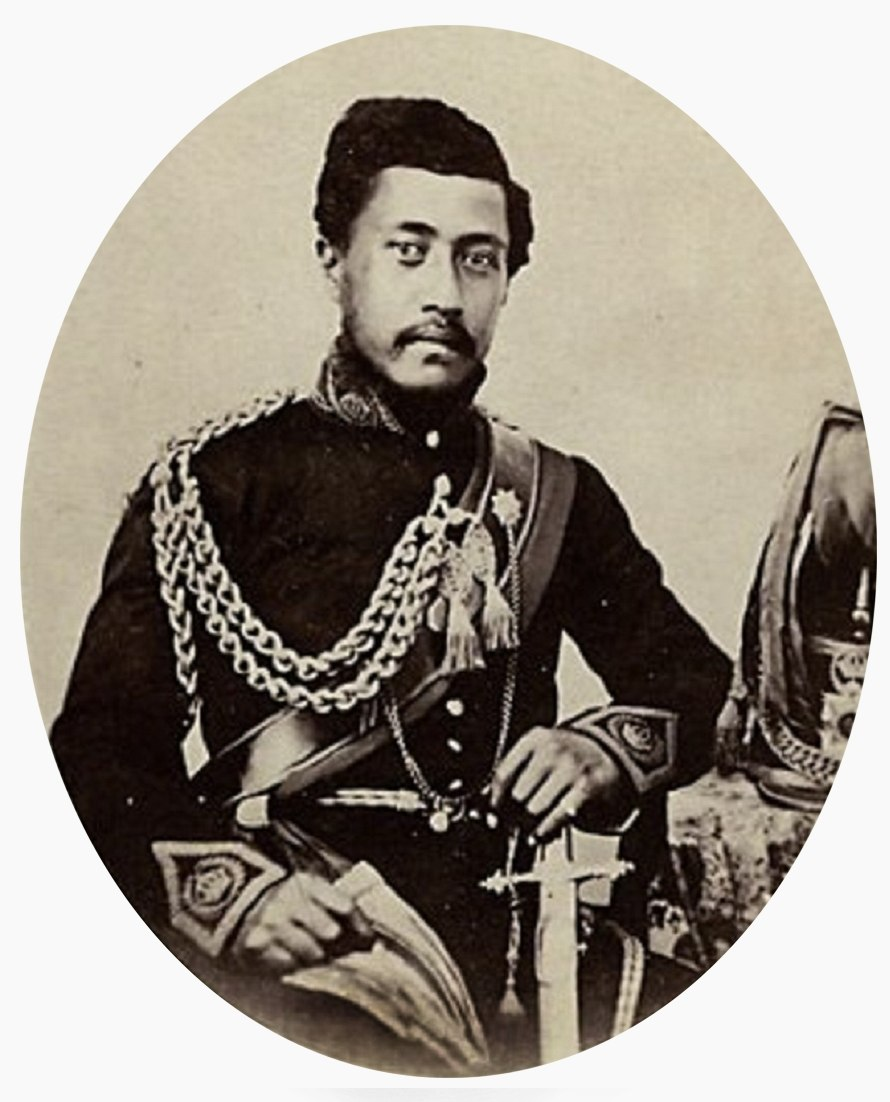 Photograph of William Charles Lunalilo by Henry L. Chase (cropped)