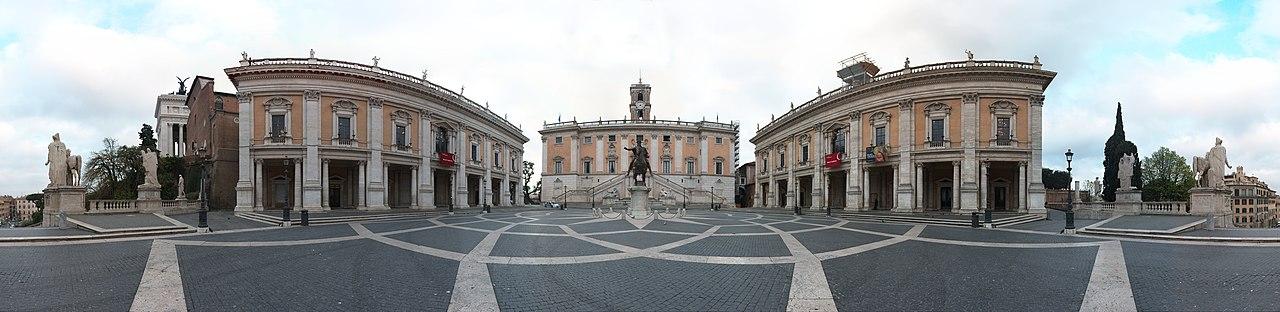 File:Piazza Del Campidoglio Panoramic View 39948px