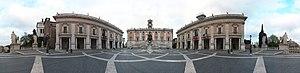 Piazza del Campidoglio panoramic view 39948px
