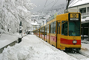 Arlesheim - A tram in Arlesheim