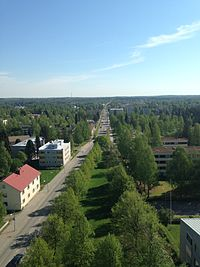Pieksämäki from the water tower