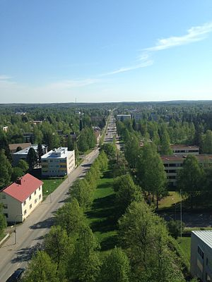 Pieksämäki - Pieksämäki from the water tower