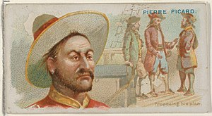 Pierre le Picard - Image: Pierre Picard, Proposing His Plan, from the Pirates of the Spanish Main series (N19) for Allen & Ginter Cigarettes MET DP835038