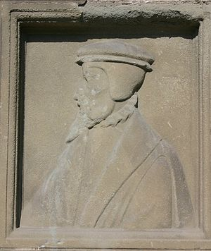 Pierre Viret - Bas relief of Pierre Viret.