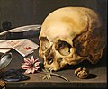 Pieter claesz, natura morta con vanitas, 1625, 02 teschio.jpg