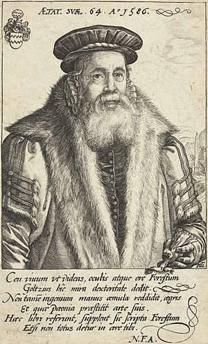 Petrus Forestus - Petrus Forestus at the age of 64 (1586).