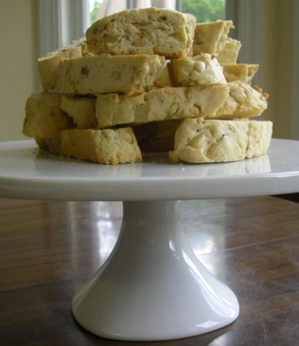 Biscotti - Pinoli, a variation of biscotti made with pine nuts rather than almonds.