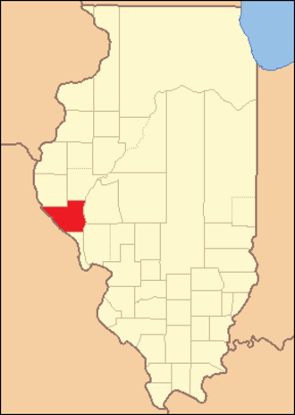 Pike County, Illinois - Image: Pike County Illinois 1825