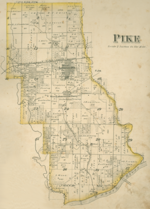 Pike Township, Warren County, Indiana - 1877 map of Pike Township