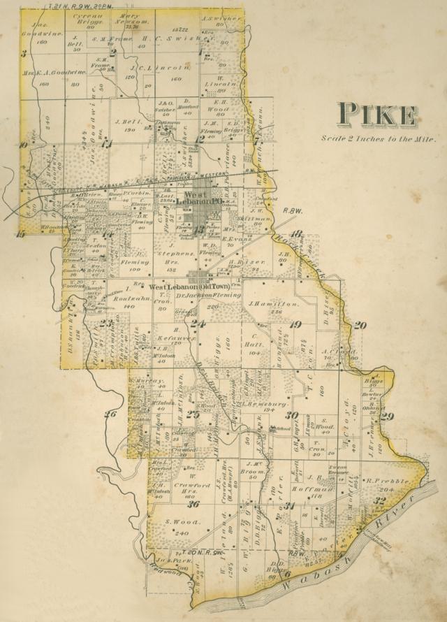 Pike County Indiana Map.Pike Township Warren County Indiana Wikiwand
