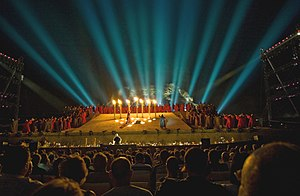 New Israeli Opera - The New Israeli Opera performing Nabucco in Masada