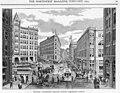 Pioneer Square looking east on Yesler Way, artist's rendition, 1891 (SEATTLE 3074).jpg