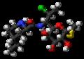 Pirlimycin molecule ball.png
