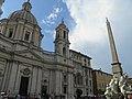 Place Navone - Obélisque et église Sainte-Agnès en Agone (Rome) (3).jpg