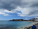 Plane watching from Maho Beach, St Maarten, Oct 2014 (15754703661).jpg
