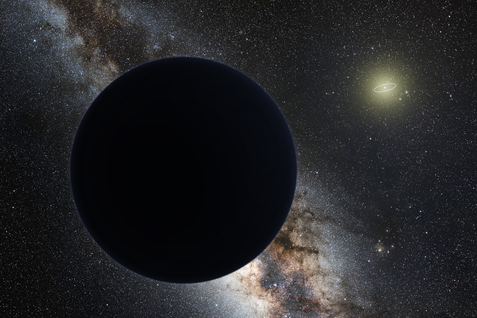 Planet nine artistic plain