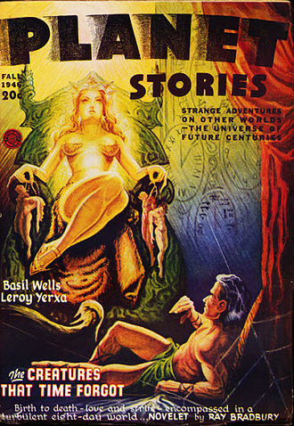 "Frost and Fire (short story) - ""Frost and Fire"" (as ""The Creatures That Time Forgot"") was cover-featured on the Fall 1946 issue of Planet Stories"
