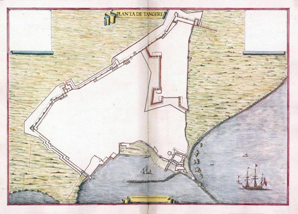 Planta de Tanger, Leonardo de Ferrari, 1655