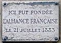 Plaque Alliance française, 215 boulevard Saint-Germain, Paris 7e.jpg
