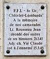 Plaque Jean Rousseau, Claude Vié, 3 boulevard de Sébastopol, Paris 1er.jpg