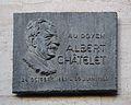 Plaque commémorative à la mémoire d'Albert Châtelet à Paris, France..JPG
