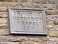 Plaque on the (former) Primitive Methodist Chapel - geograph.org.uk - 626196.jpg