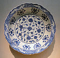 Plate, Iznik, Turkey, 1525-1535 AD, stonepaste painted under glaze - Freer Gallery of Art - DSC05415.JPG