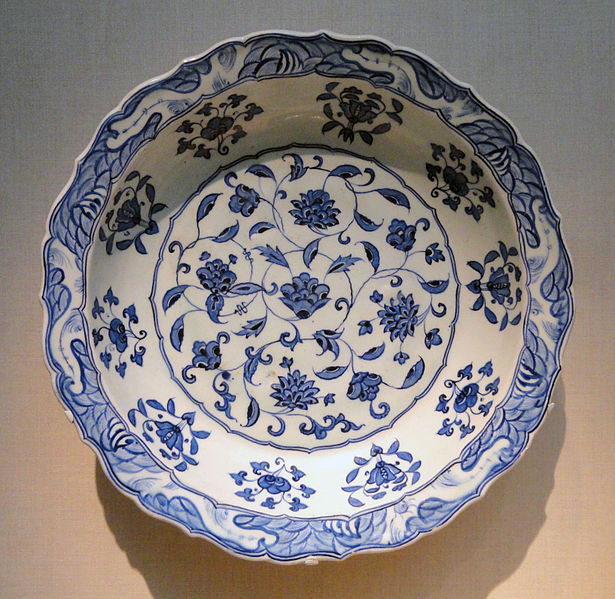 File:Plate, Iznik, Turkey, 1525-1535 AD, stonepaste painted under glaze - Freer Gallery of Art - DSC05415.JPG